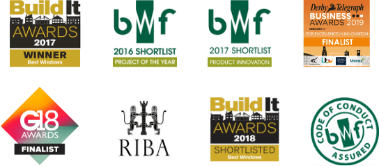 Industry awards and nominations logos for Gowercroft Joinery