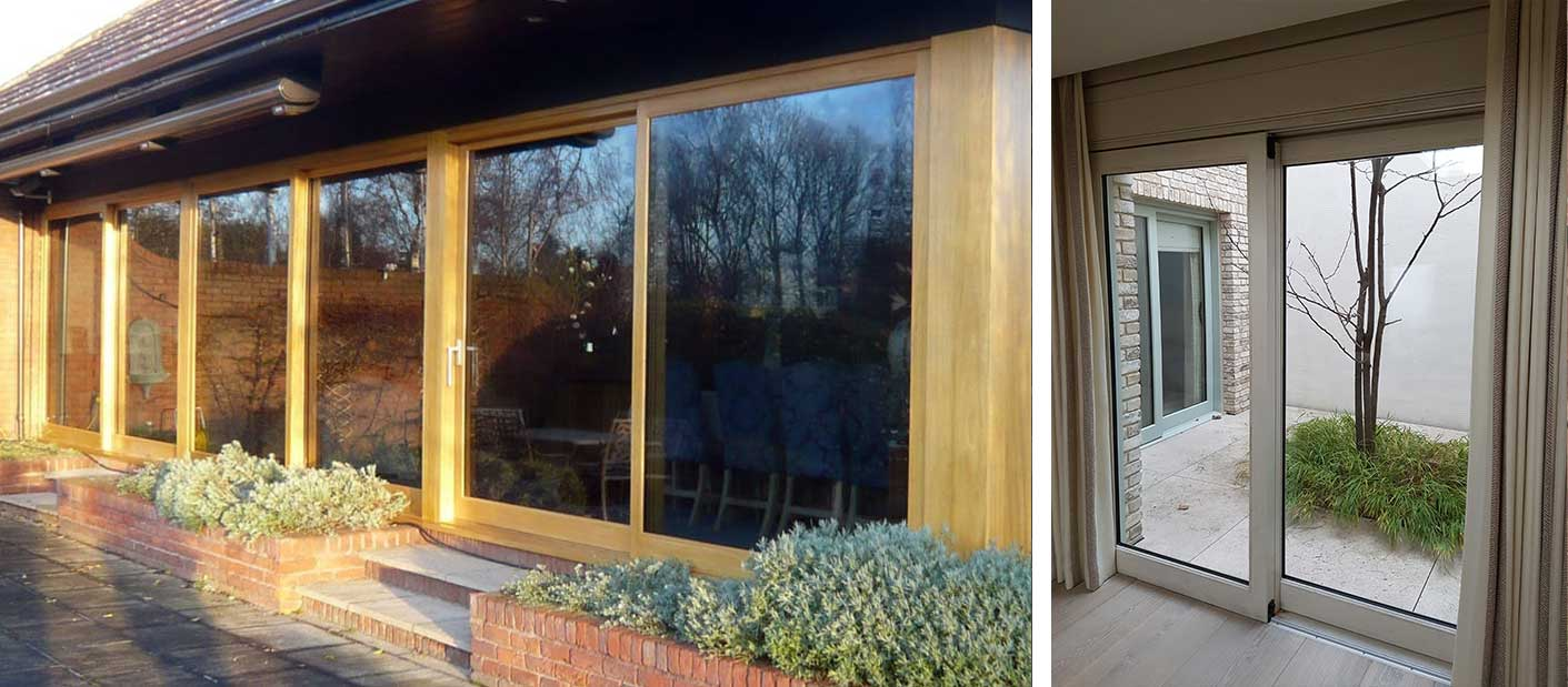 Peveril lift and slide patio doors made from Accoya wood by Gowercroft Joinery