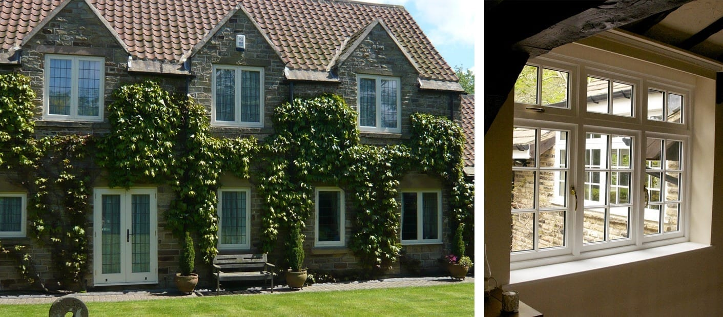 The Hardwick range of Accoya flush casement windows - premium timber windows with high performance double glazing by Gowercroft Joinery in Derbyshire