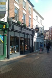Shop Front in Derby after commercial heritage windows fitted by Gowercroft