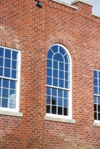 Picture of wooden sash windows with spiral balances