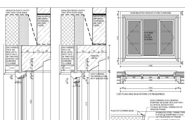 Thin double glazing diagram