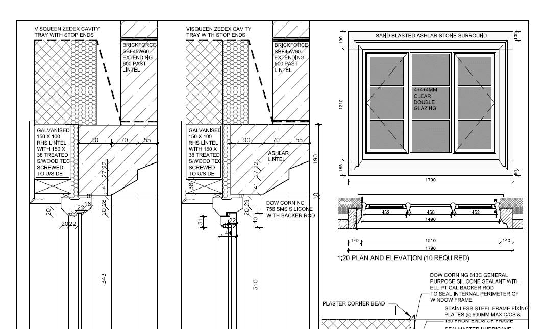 Thin double glazing diagram