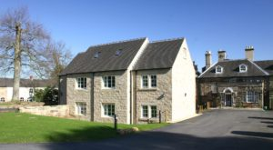 Rear view of Holbrook hall in Derbyshire after Gowercroft fitted heritage windows to the new extension