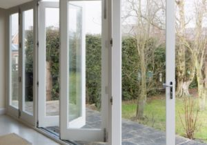 Lift and slide bifold doors made from accoya timber