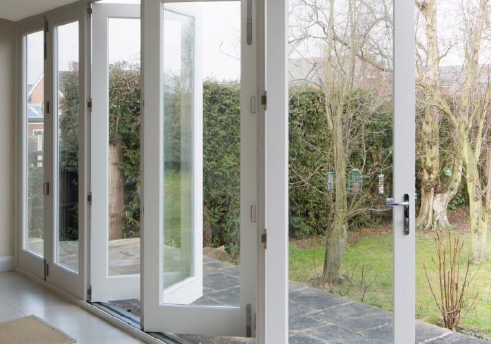 Sliding bifold doors made from sustainable wood