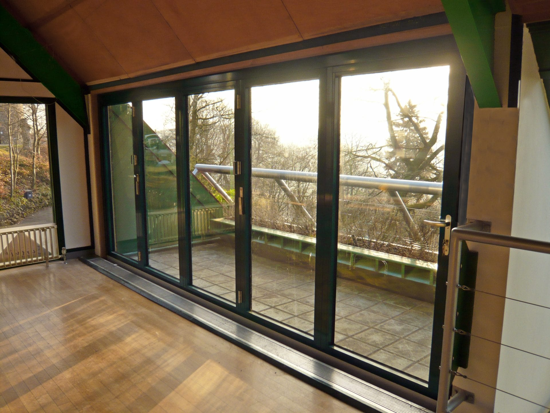 Lift and slide doors made from sustainable timber