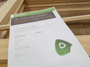 UK Joinery certificate