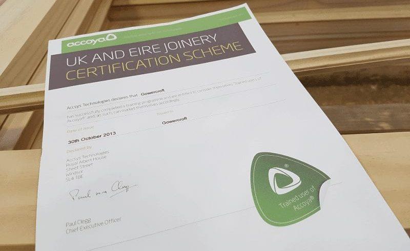 UK joinery scheme award certification