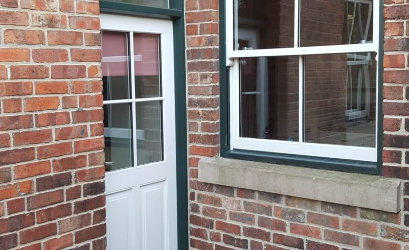 timber windows fitted to a traditional home
