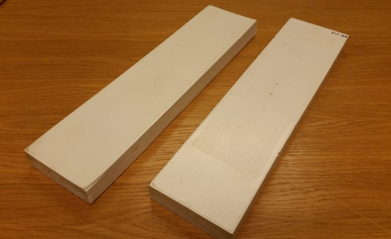 based coating pieces of wood