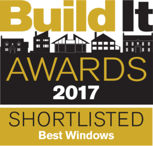 BuildIt award logo for Gowercrofts heritage range of windows and doors