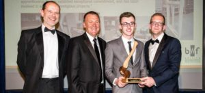 Oliver receiving his Apprentice of the year award