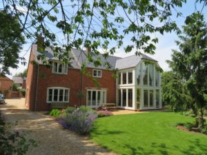 Self Build project we are proud to have been part of fitting classic wooden casement windows and bespoke joinery