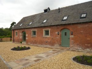 Hardwick casements Melbourne angled top doors Lichen Booth painted brick barn conversion