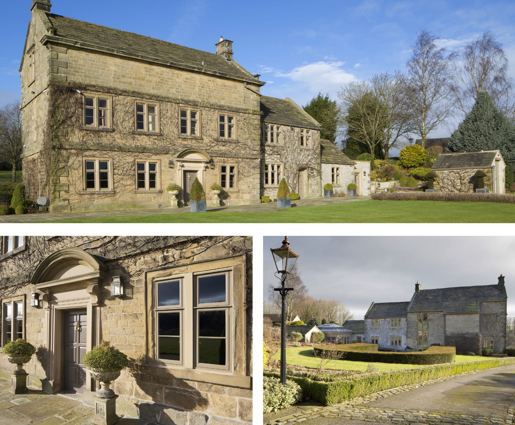 Gallery shots of Olde Longmoor Hall in Derbyshire after Gowercroft fitted new timber windows and doors