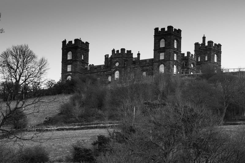 Riber Castle black and white elevation