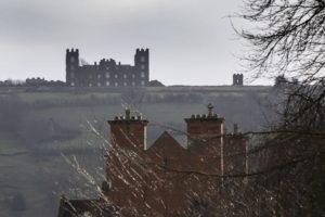 Riber Castle elevation long distance
