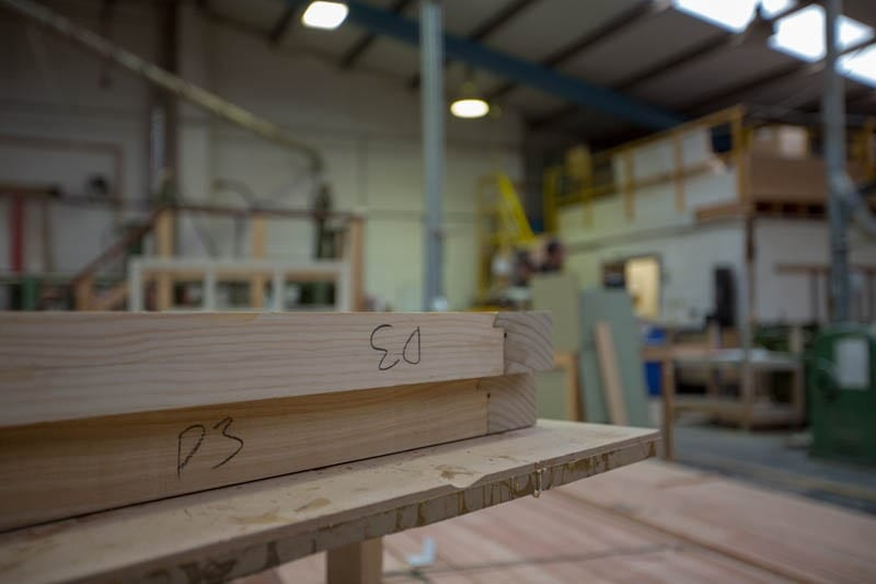 The raw timber ready to be made into timber windows and doors