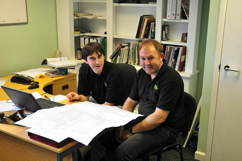 The design team hard at work at Gowercroft Joinery