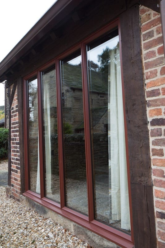 Bifold doors in chesterfield barn conversion