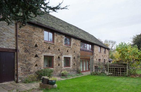 Casement windows in sympathetic barn conversion in Chesterfield