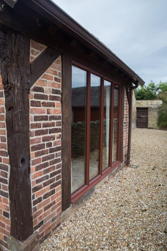 View of bespoke hardwood bifold doors