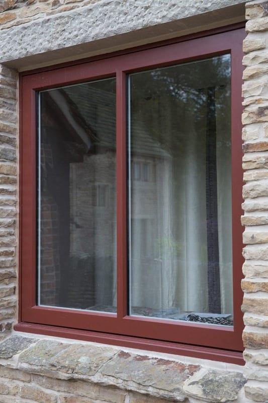 detail of hardwood windows