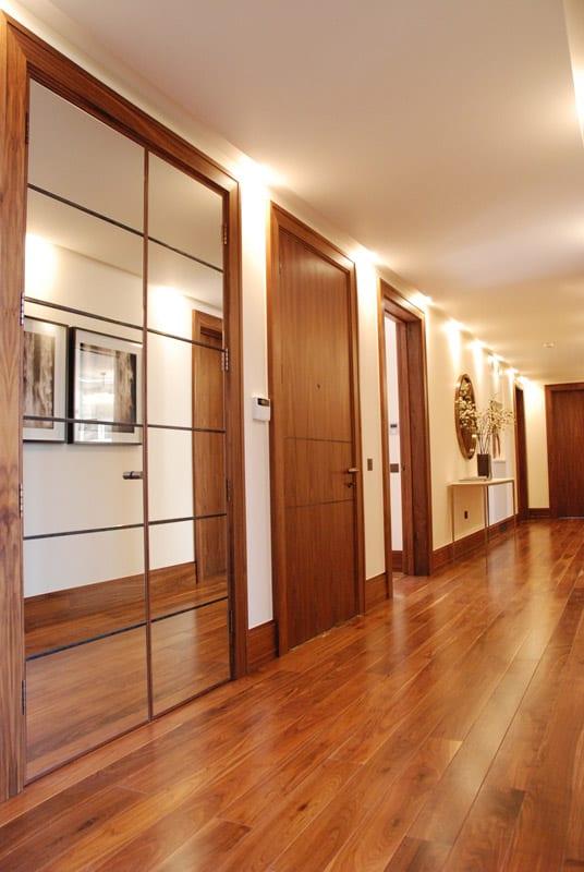 Walnut internal door sets and skirting