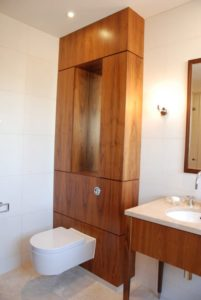 Walnut toilet surround bathroom