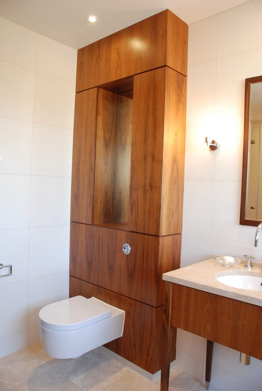Walnut toilet surround bathroom