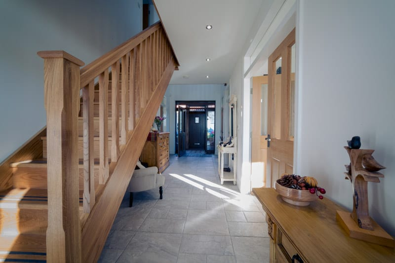 staircase joinery from bespoke windows, doors and internal joinery project in hartlepool