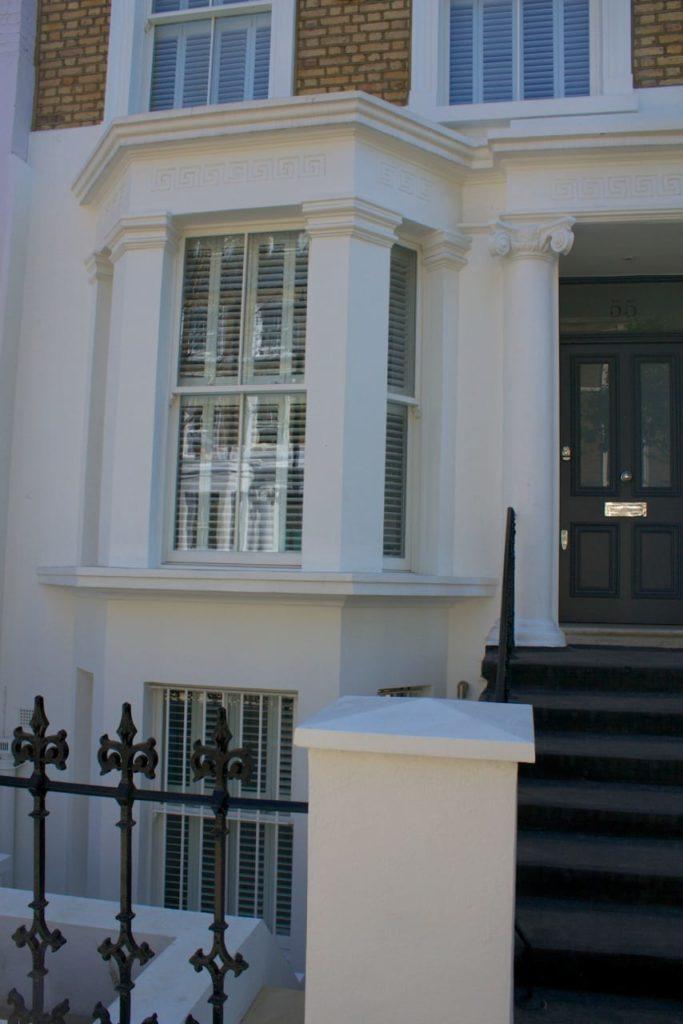 Victorian Chatsworth sliding sash bay window London townhouse