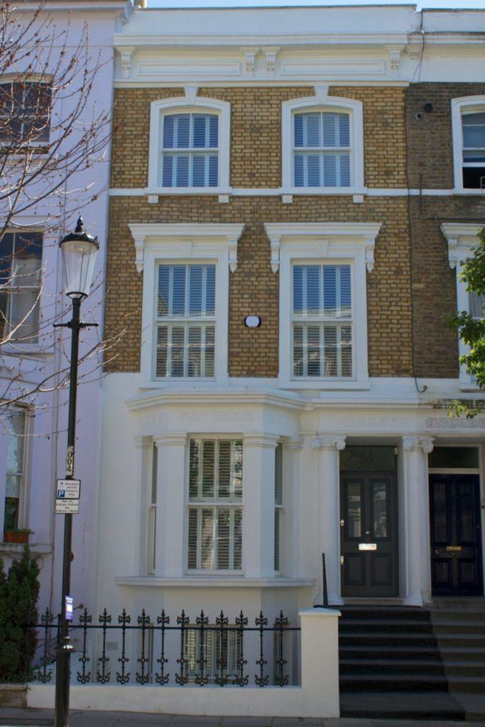 Victorian Chatsworth sliding sash windows bay elevation London townhouse
