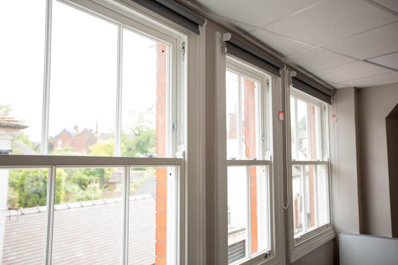 Winston sliding sash windows internal shot at Repton School in Derby