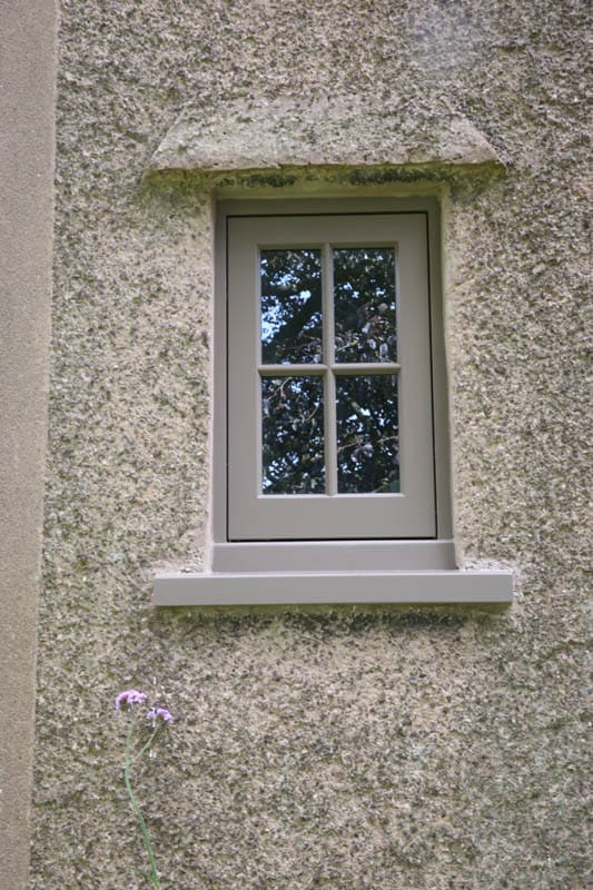 A small ultra slim double glazing heritage window fitted to Colliers Oak Farm, Warwichshire