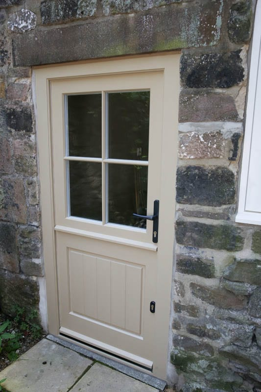 Heritage door installed to the rear of The Smithy, Whatstandwell