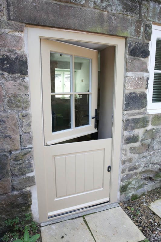 Heritage stable door showing the split at Whatstandwell cottage