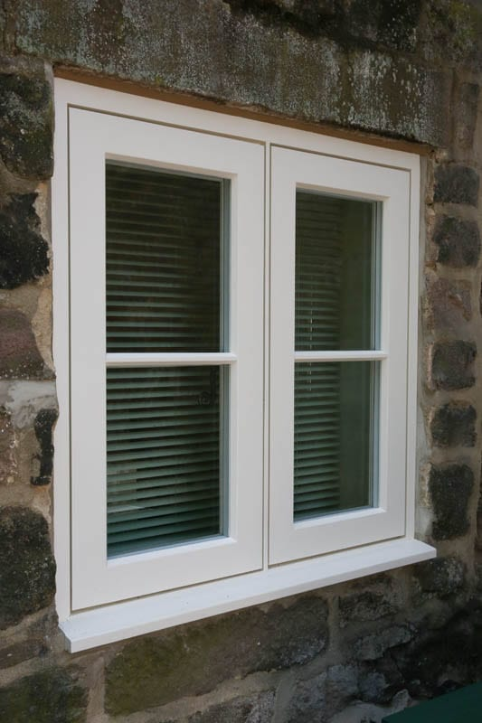 Tight shot of a heritage style casement window installed at The Smithy, Whatstandwell iin Derbyshire