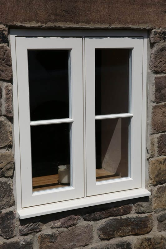 Close up of a heritage style window installed at The Smithy, near Matlock