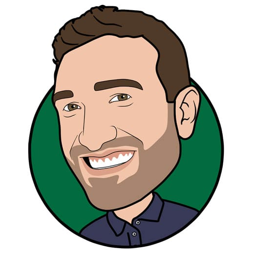 Cartoon image of Andrew Madge managing director at Gowercroft Joinery wooden window manufacturer in Alfreton