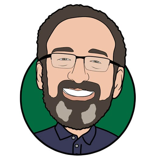 Cartoon image of Chris Madge of Gowercroft Joinery wooden window manufacturer in Alfreton