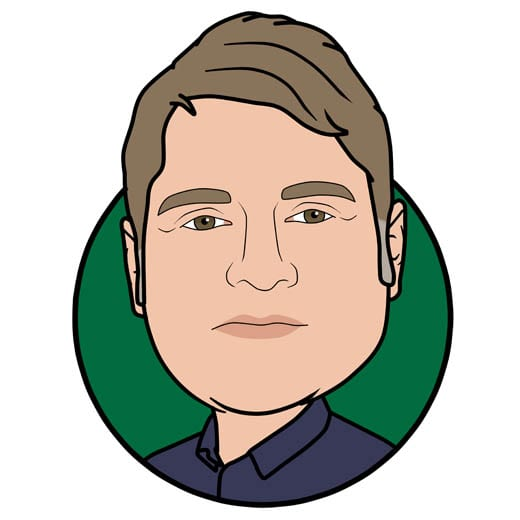 Cartoon image of Darren Young at Gowercroft Joinery wooden window manufacturer in Alfreton