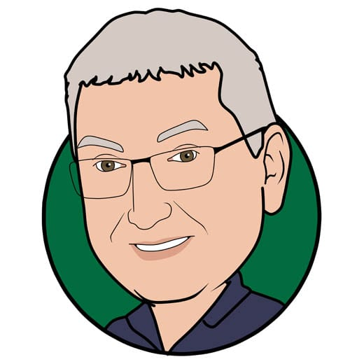 Cartoon image of Gary Chatwood of Gowercroft Joinery wooden window manufacturer in Alfreton