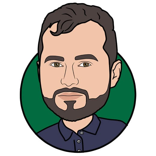 Cartoon image of Greg Kasowicz of Gowercroft Joinery wooden window manufacturer in Alfreton