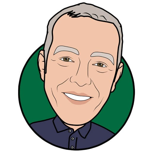Cartoon image of Joe Grimley of Gowercroft Joinery wooden window manufacturer in Alfreton