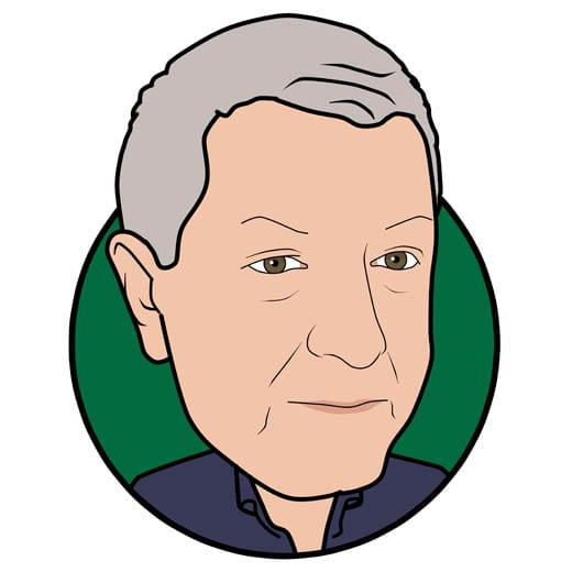 Cartoon image of Mike Allen of Gowercroft Joinery wooden window manufacturer in Alfreton