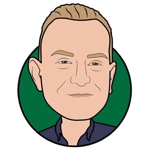 Cartoon image of Simon Gayton of Gowercroft Joinery wooden window manufacturer in Alfreton