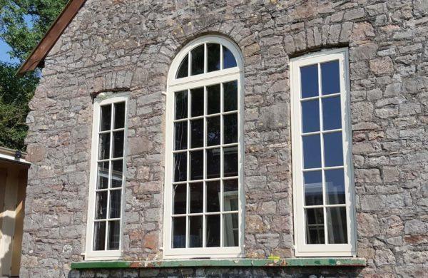 Modern Georgian Windows installed in a period chapel