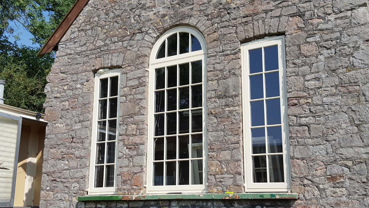 Modern Georgian Windows installed in a period chapel